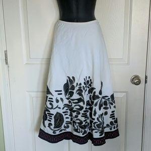 Zozo White Linen Skirt